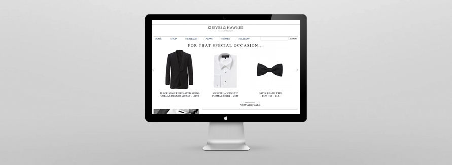 Gieves and Hawkes Magento Website Development